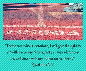 -To the one who is victorious, I will give the right to sit with me on my throne, just as I was victorious and sat down with my